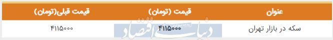 قیمت سکه در بازار امروز تهران 13 شهریور