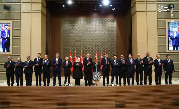 اولین تصویر از کابینه رجب طیب اردوغان