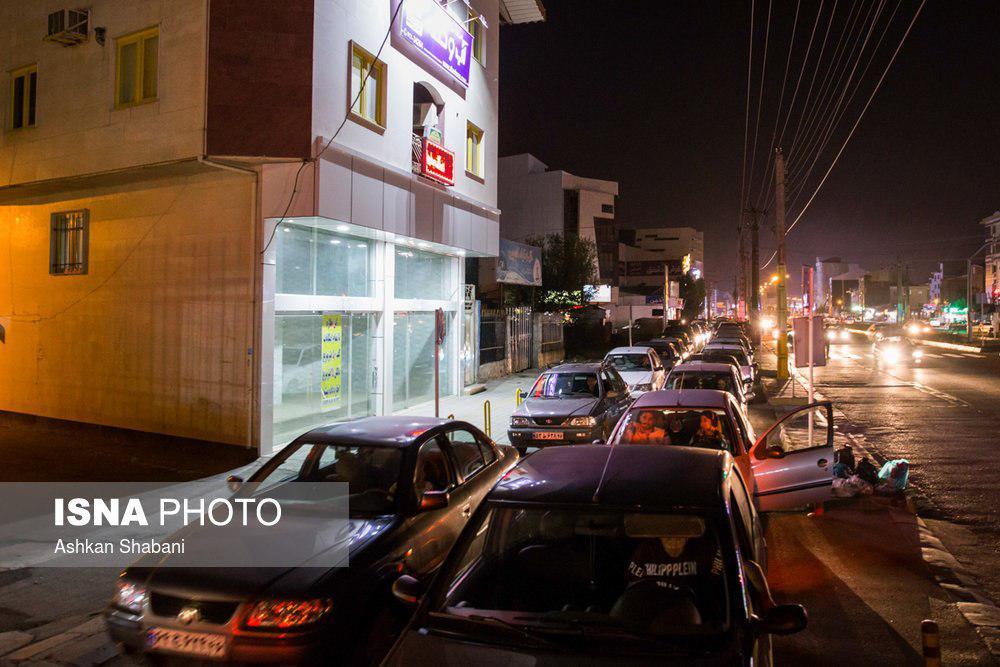 صفهای طولانی بنزین بعد از شایعه قحطی در گیلان