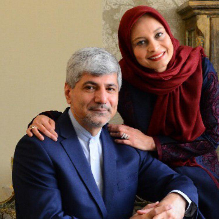 مریم کاویانی در کنار همسرش