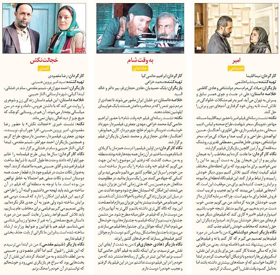 پیشتازان آرای مردمی در جشنواره فیلم فجر