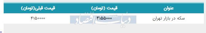 قیمت سکه در بازار امروز تهران 30 مرداد 98