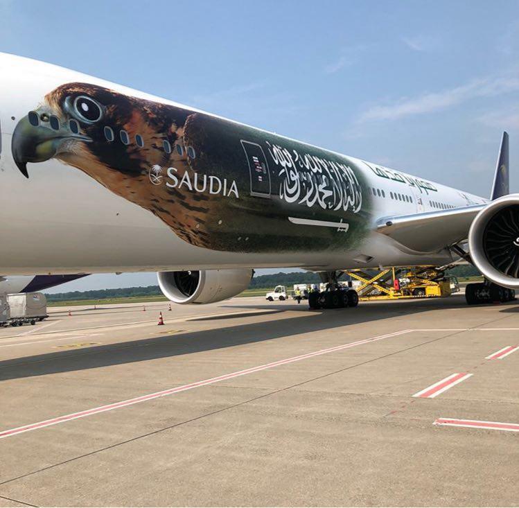 هواپیمای عربستان برای سفر به جام جهانی
