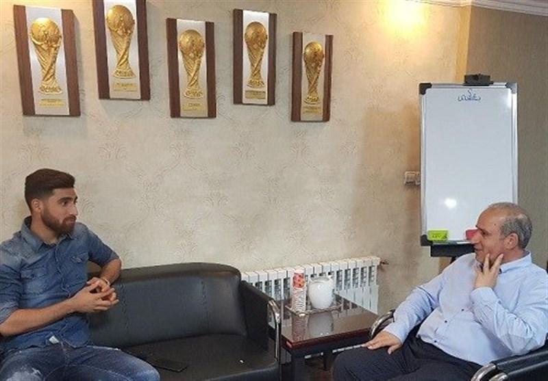 مهاجم تیم ملی با رئیس فدراسیون فوتبال دیدار کرد