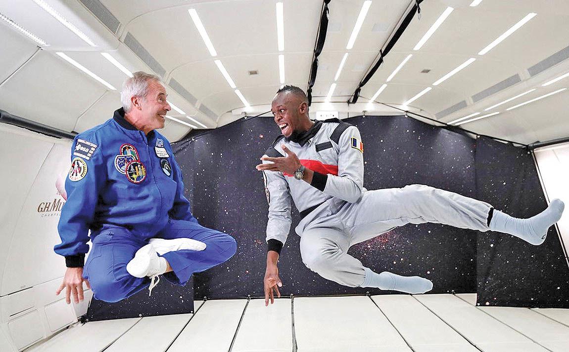 تمرین اوسین بولت همانند یک فضانورد