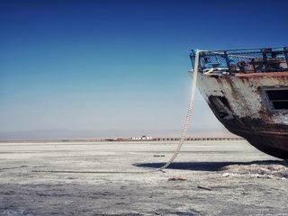 وضعیت بحرانی دریاچه ارومیه