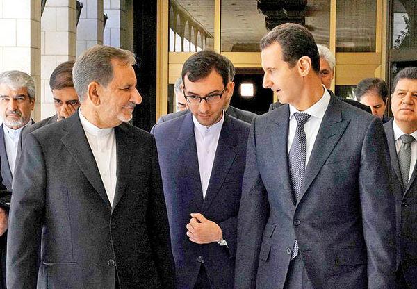 دیدار جهانگیری با بشار اسد