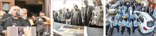 بدرقه باشکوه کارگردان پیشکسوت به خانه ابدی