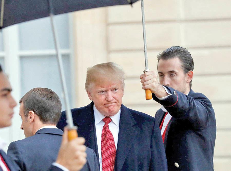 پایان ماه عسل مکرون و ترامپ