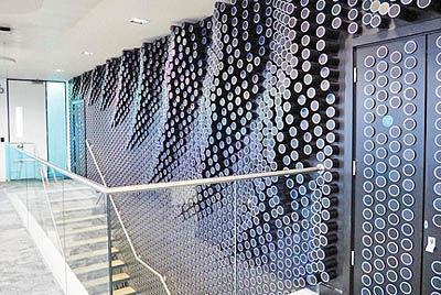 دیوار آلکسا در دفتر جدید آمازون