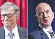بیل گیتس و جف بزوس در لیست سه ثروتمند اول جهان