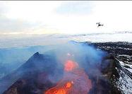 پیشبینی فوران آتشفشان به کمک پهپاد