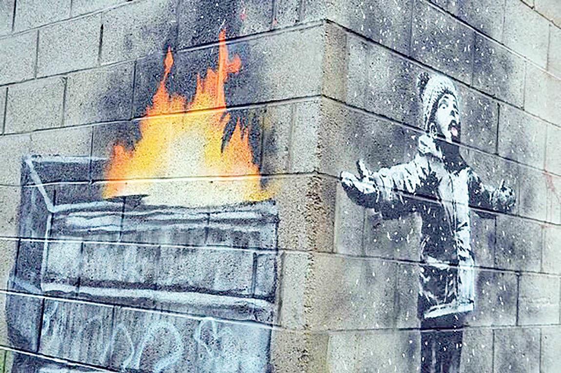اسبابکشی نقاشی دیواری بنکسی
