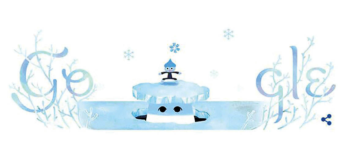 تغییر لوگوی گوگل به مناسبت «انقلاب زمستانی»