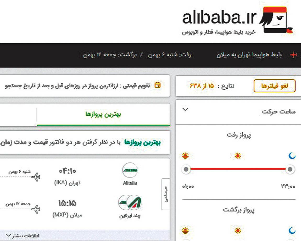 کشمکش آژانسهای مسافرتی و «علیبابا» برسر تخفیف بلیت هواپیما