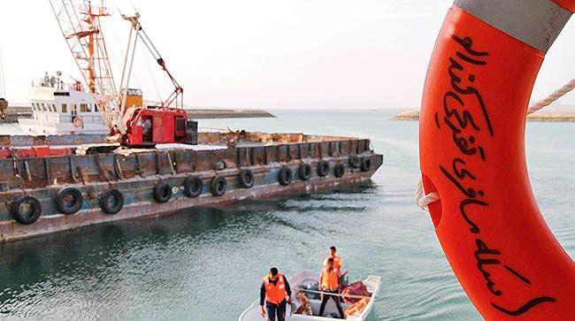 افتتاح دو فروند اسکله شناور  در جزایر قشم و هنگام