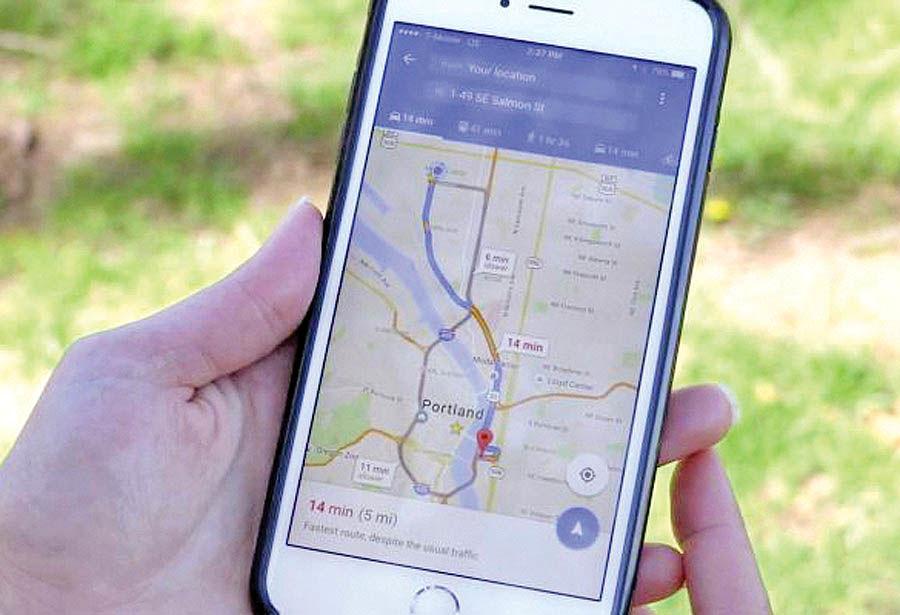 مسیریابی ویلچر روی گوگل مپ