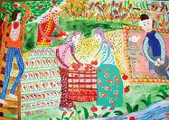 یک دختر ایرانی برنده جایزه اول مسابقه نقاشی محیطزیست ژاپن