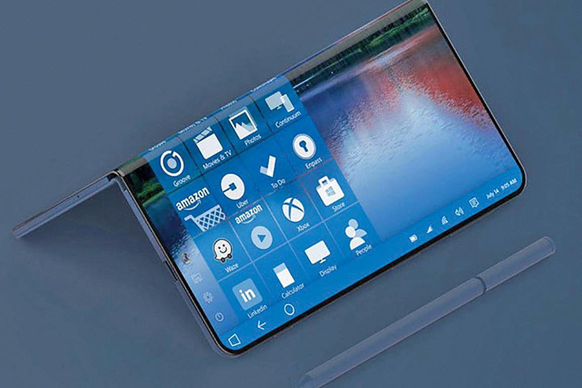 مایکروسافت هم به فکر عرضه گوشی هوشمند تاشو افتاد