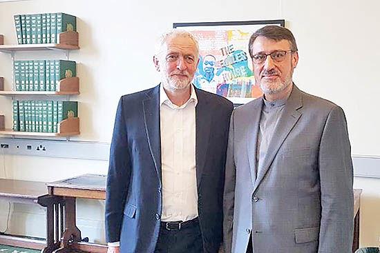 دیدار بعیدینژاد با رهبر حزب کارگر انگلیس