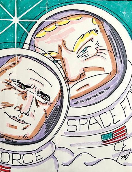 جیم کری ترامپ را به فضا فرستاد