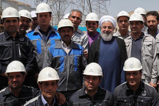 افتتاح فاز دوم نیروگاه سیکل ترکیبی شیروان توسط رئیسجمهور
