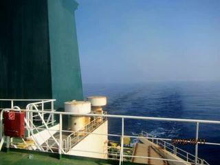 عرشه نفتکش ایرانی مورد اصابت موشک