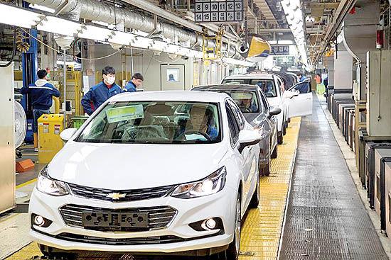 تعطیلی کارخانه جنرال موتورز در کره