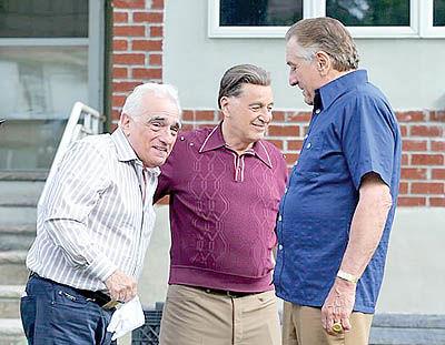 رابرت دنیرو و آل پاچینو در پشت صحنه فیلم تازه اسکورسیزی