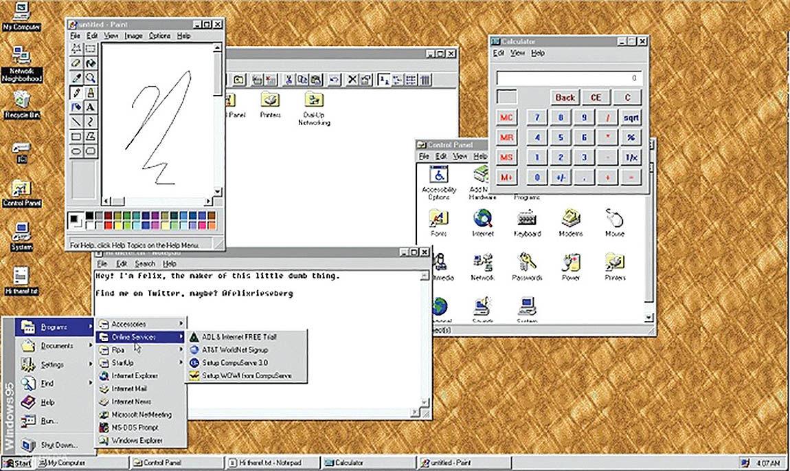 اپلیکیشن نوستالژیک ویندوز 95