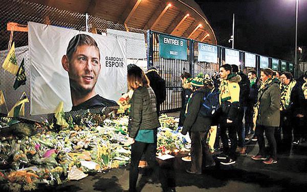 ادای احترام به فوتبالیست مفقود