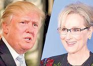 دعوای مریل استریپ با ترامپ به گلدنگلوب کشید