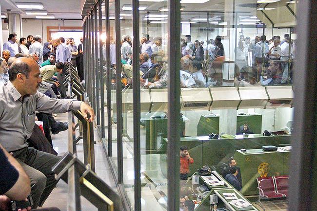 فشار فروشندگان در بورس تهران