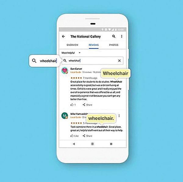 قابلیت جستوجوی کلیدواژه در نقشه گوگل