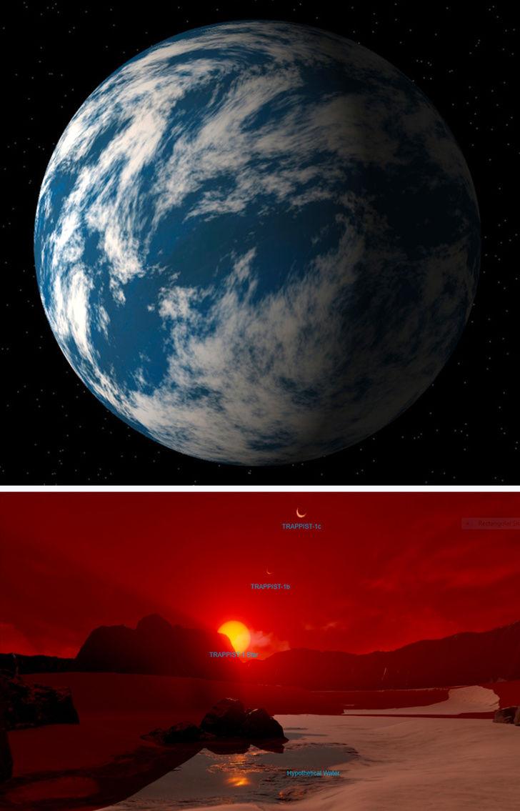 ۱۰ سیارهای زیبایی که مشابه کره زمین هستند + تصاویر