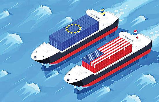 جنگ تجاری در دو سوی آتلانتیک