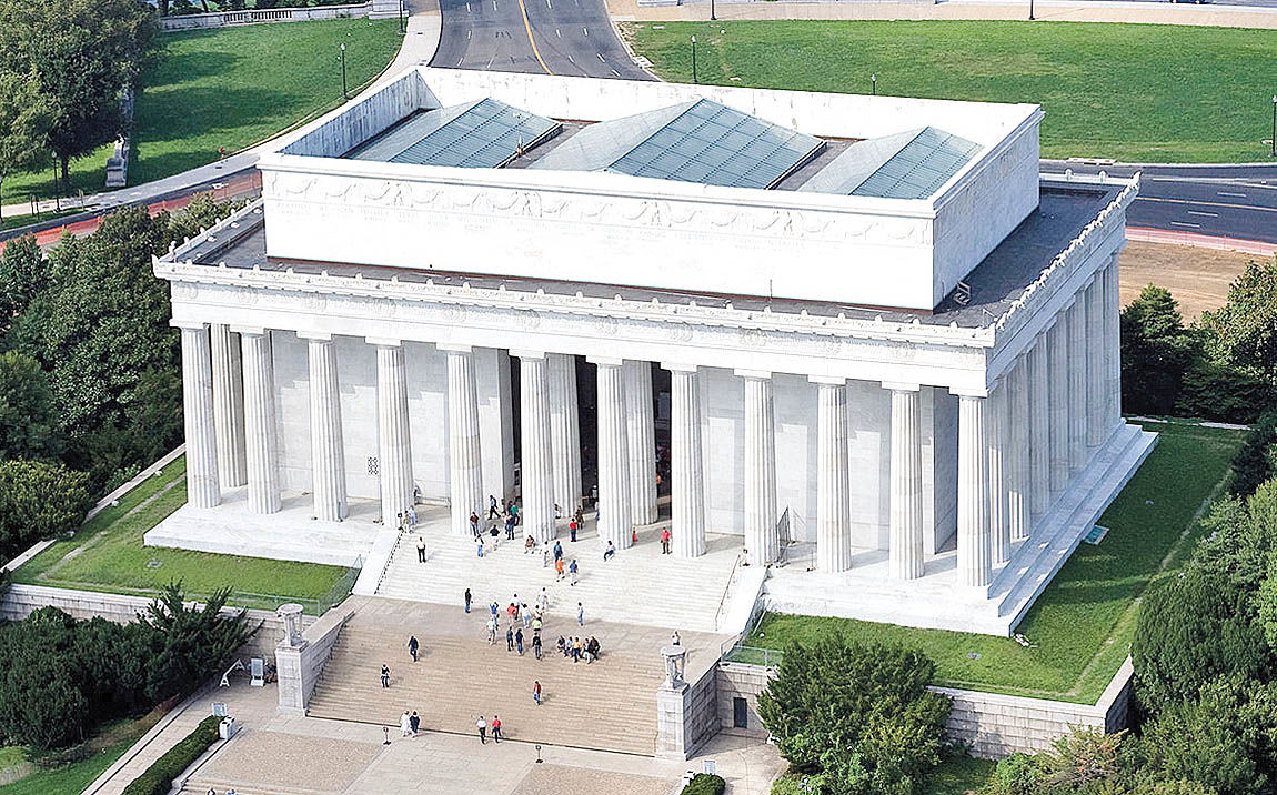 بیکن، معمار بنای یادبود لینکلن