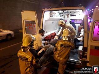 واژگونی خونین پژو۲۰۶ در تونل نیایش