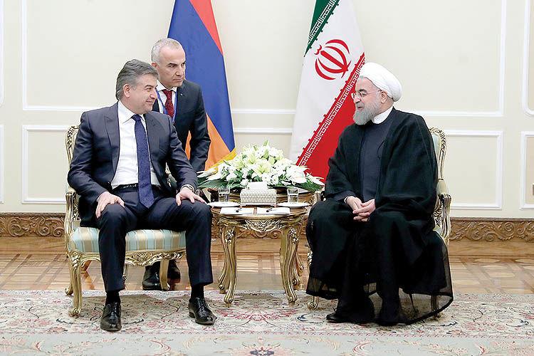دیدار نخستوزیر ارمنستان با روحانی