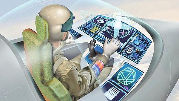 کنترل جتهای جنگی با نگاه و اشاره خلبان