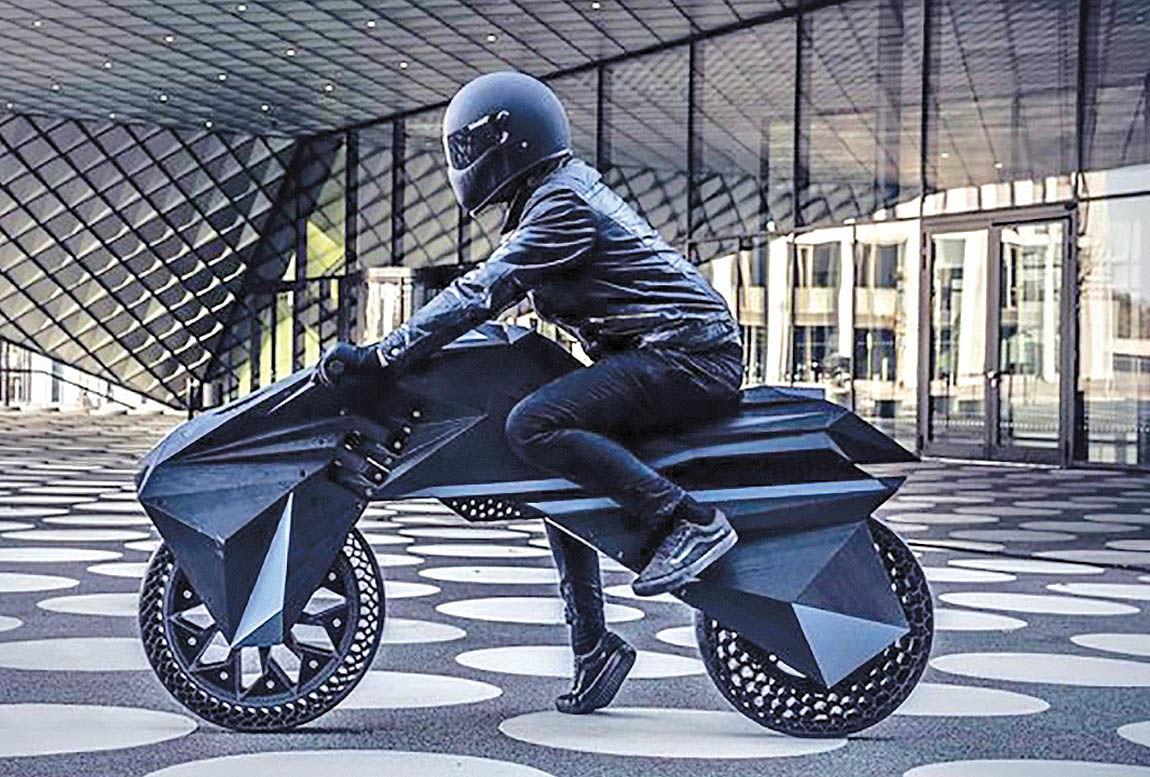 موتورسیکلتی که با پرینتر سهبعدی ساخته شد