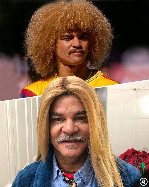 مدل موی عجیب و غریب ستاره سابق فوتبال کلمبیا +عکس