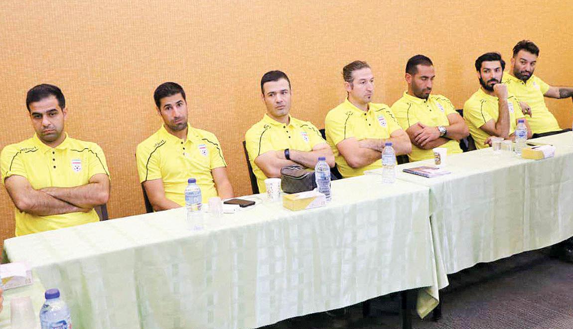 ستارههای فوتبال در کلاس مربیگری