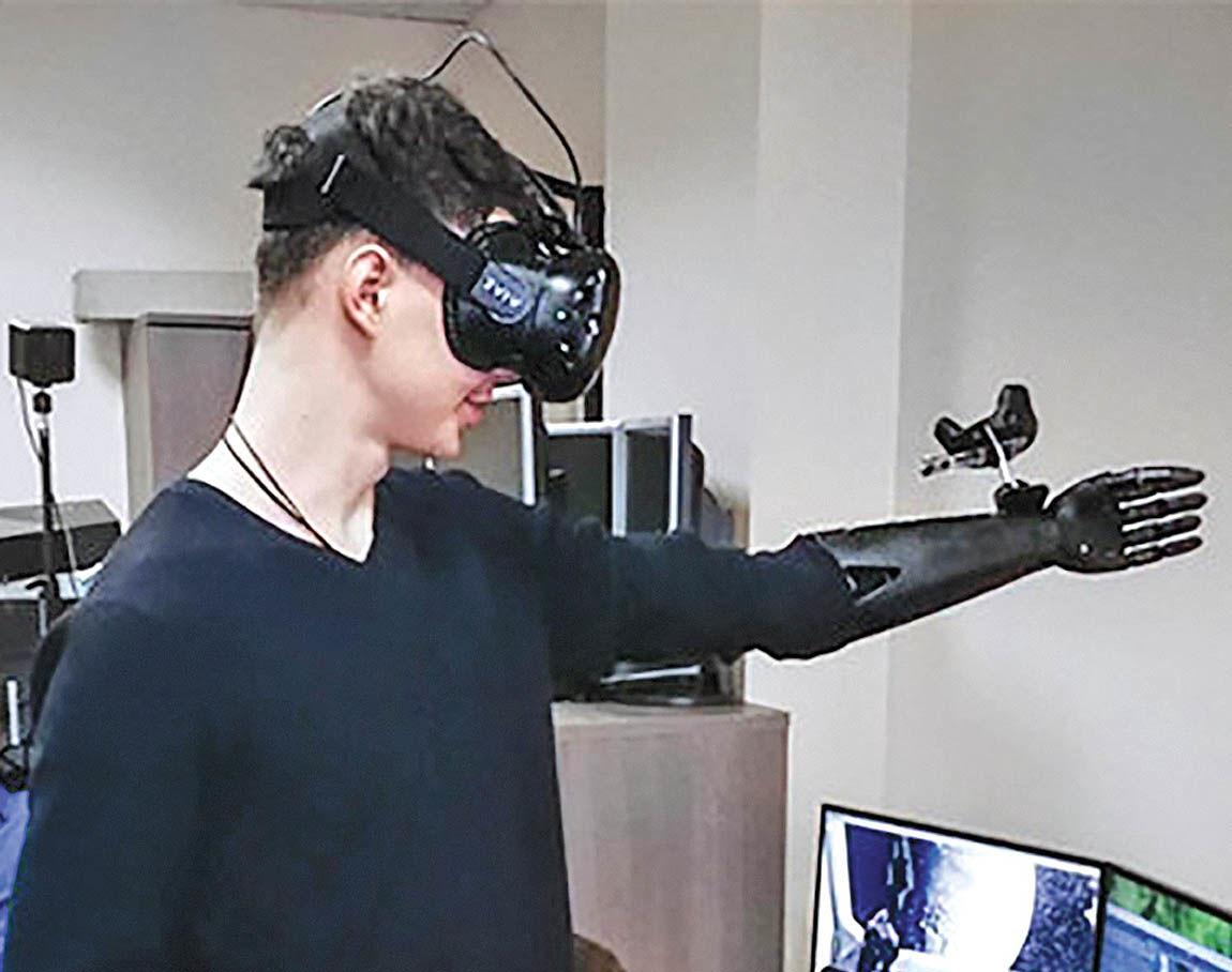 عادت به اندام ساختگی با واقعیت مجازی