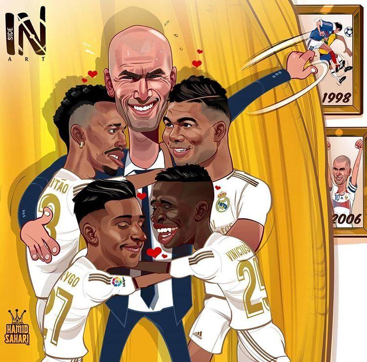 چه میکنه زیدان با بازیکنای برزیلیش!