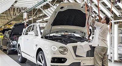 کاهش تولید خودرو در انگلستان
